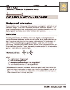Investigation: Gas Laws in Action - Propane Activities & Project