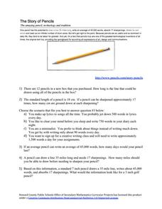 The Story of Pencils Worksheet