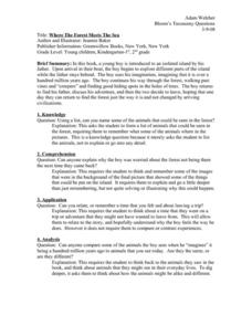 Where The Forest Meets The Sea Worksheet