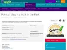 Point of View is a Walk in the Park Lesson Plan