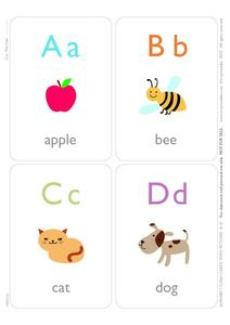 Alphabet Flash Cards Printables & Template