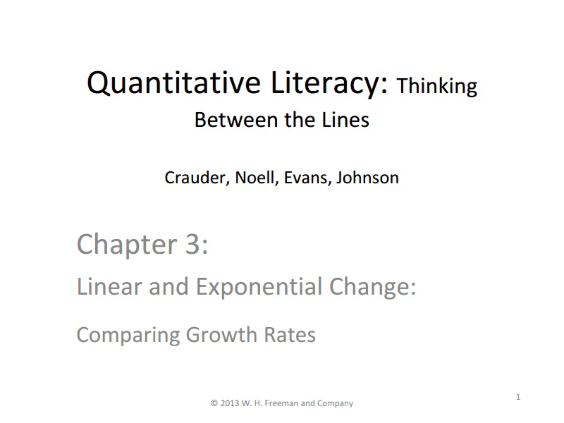 Linear and Exponential Change: Comparing Growth Rates Lesson Plan