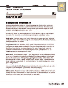 Investigation: Crank It Up! Worksheet