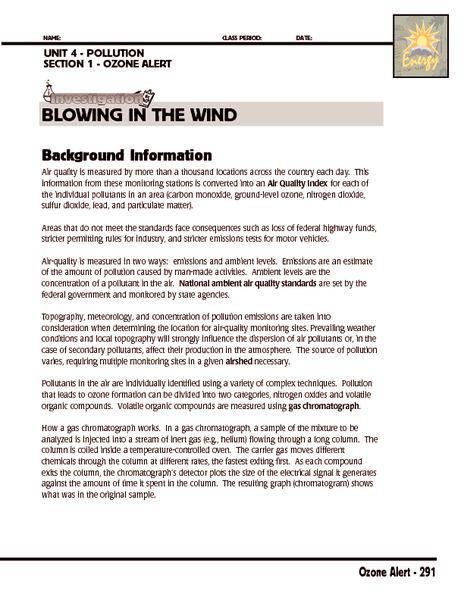 Ing In The Wind Worksheet