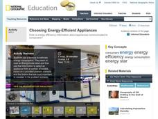 Choosing Energy-Efficient Appliances Activities & Project