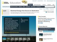 Electrical Energy from Source to Destination Activities & Project