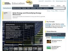 Solar Energy and Diversifying Energy Resources Activities & Project