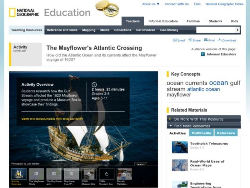 The Mayflower's Atlantic Crossing Lesson Plan