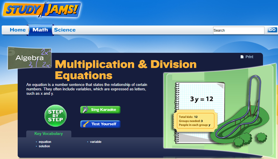 Study Jams! Multiplication & Division Equations Interactive