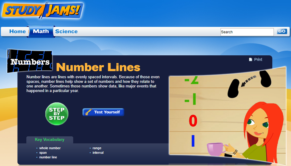 Study Jams! Number Lines Interactive