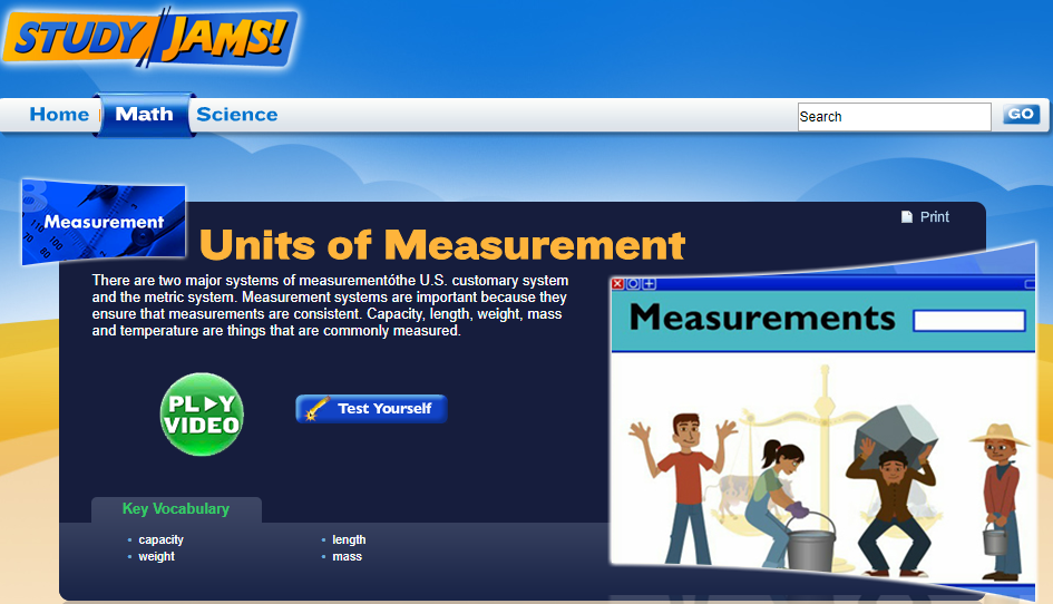 Study Jams! Units of Measurement Interactive