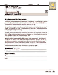 Investigation: Ozone Snaps Worksheet