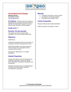 Ecosystems and Change Lesson Plan