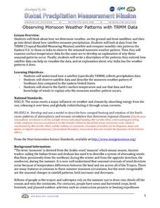 Observing Monsoon Weather Patterns with TRMM Data Lesson Plan