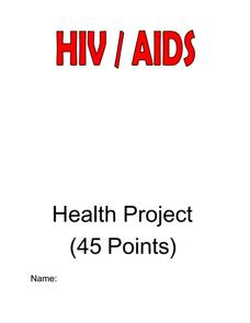 HIV/AIDS Awareness Health Project Worksheet
