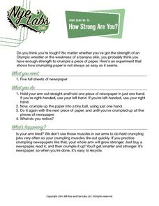 How Strong Are You? Activities & Project