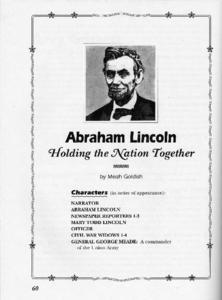 Abraham Lincoln: Holding the Nation Together Activities & Project