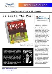 Voices In the Park Lesson Plan