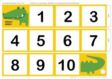 Crocodile Number Line 1- 10 Printables & Template