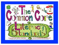 The Common Core Literacy Standards - Grade 2 Posters Printables & Template