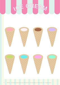 Ice Cream Color Matching Game Printables & Template