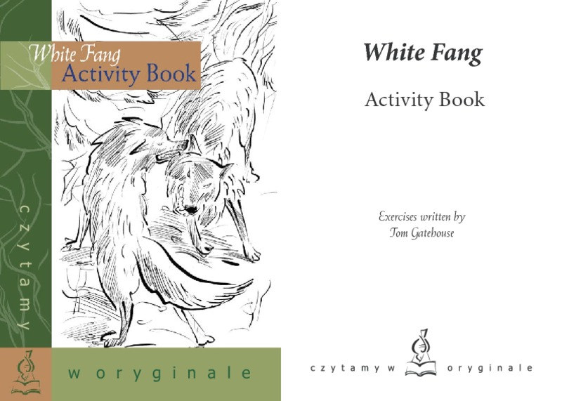 White Fang Activity Book 6th - 8th Grade Worksheet | Lesson Planet