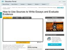 How to Use Sources to Write Essays and Evaluate Evidence Video