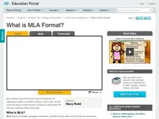What is MLA Format? Video
