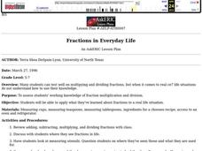 Fractions in Everyday Life Lesson Plan