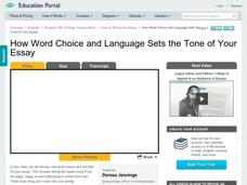 How Word Choice and Language Sets the Tone of Your Essay Video