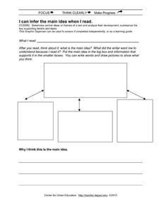 I Can Infer the Main Idea When I Read Printables & Template