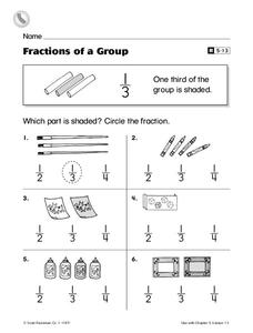 Fractions of a Group Worksheet