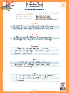Handwriting Evaluation Guide Printables & Template