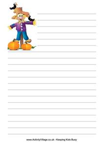 Scarecrow Writing Paper Printables & Template