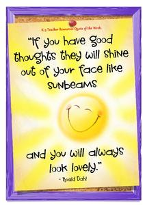 Sunbeams Quote - Roald Dahl Printables & Template