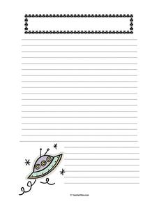 Decorated Lined Paper Printables & Template