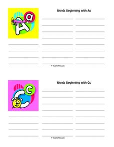 Personal Dictionary Pages Printables & Template