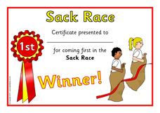 Sack Race Printables & Template