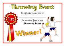 Throwing Event Printables & Template