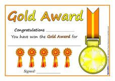 Gold, Silver, and Bronze Certificates Printables & Template