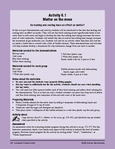 Matter on the Move Lesson Plan