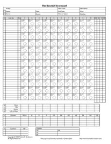 picture regarding Baseball Scorebook Printable identified as The Baseball Scorecard Printables Template for 2nd - 12th