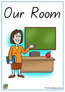 """Our Room"" Classroom Labels Printables & Template"