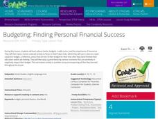 Budgeting: Finding Personal Financial Success Activities & Project