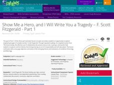 Show Me a Hero, and I Will Write You a Tragedy - F. Scott Fitzgerald - Part 1 Lesson Plan