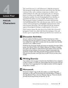The Great Gatsby: Characters Lesson Plan