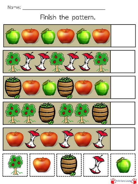graphic relating to Apple Pattern Printable named Apple Practices Printables Template for Pre-K - 2nd Quality