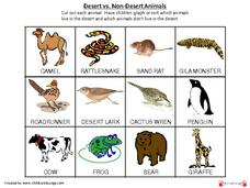 Desert Animal Sorting Printables & Template