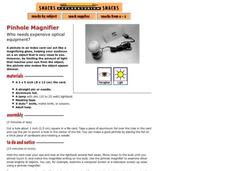 Pinhole Magnifier Activities & Project