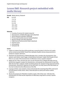 Research Project Embedded with Media Literacy Lesson Plan
